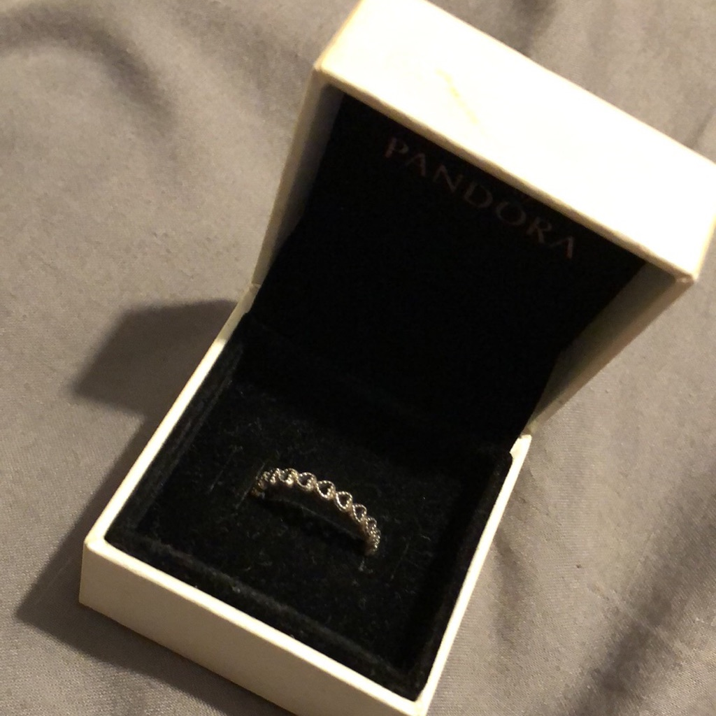 Pandora Used Heart Stacker Ring. Size 54. Comes With Box.