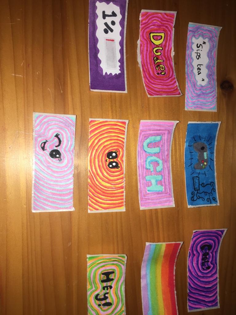 Homemade trendy stickers
