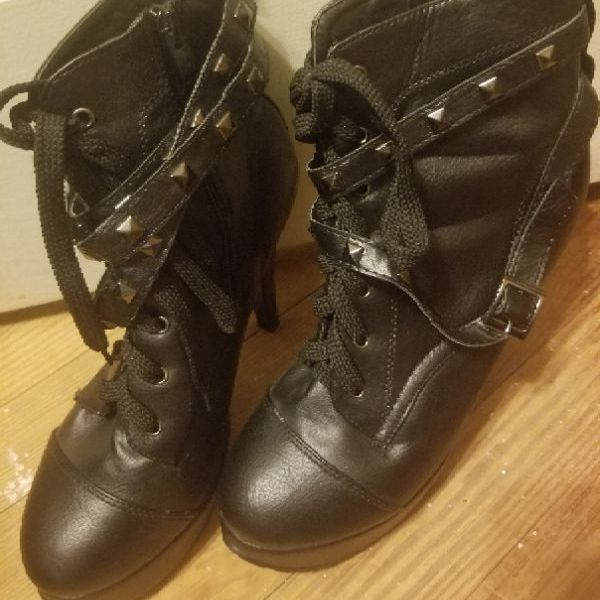 Women's size 9 heels with studded straps