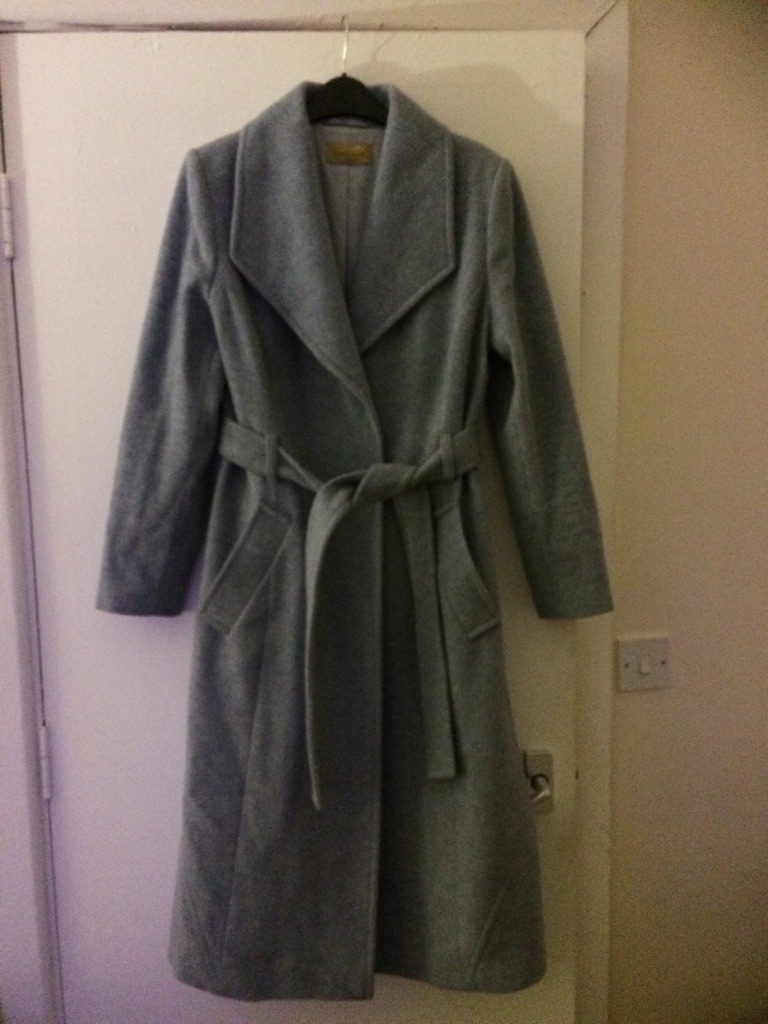 Blue/grey wool coat from m&s