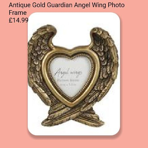 Antique Gold Guardian Angel Wing Photo Frame £14.99
