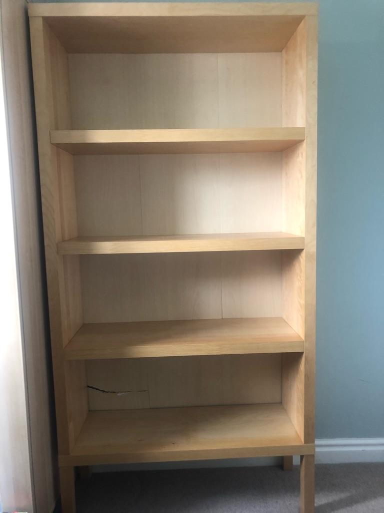 IKEA beech effect shelves