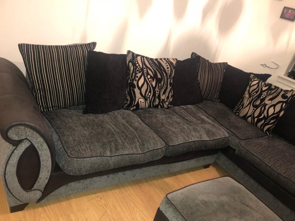Corner sofa plus ottoman