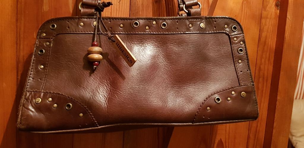 Hidesign Radley dark brown handbag