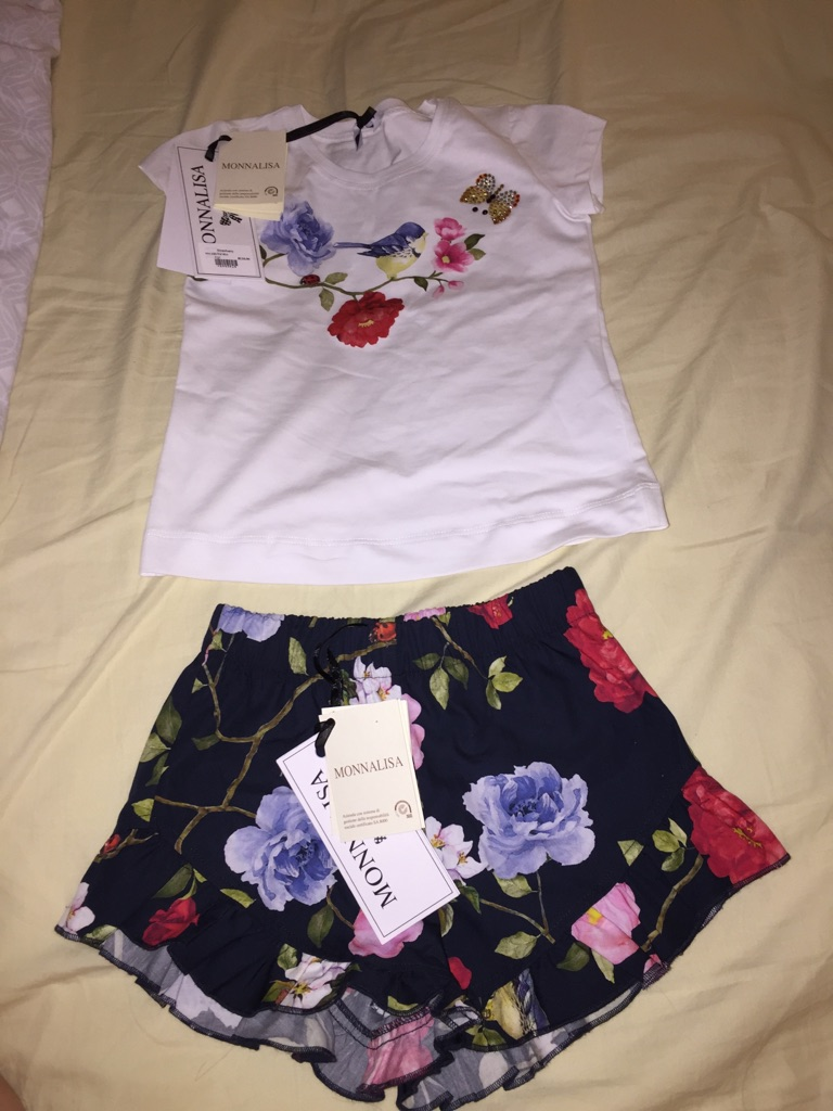 Monnalisa Shorts and T-shirt Set