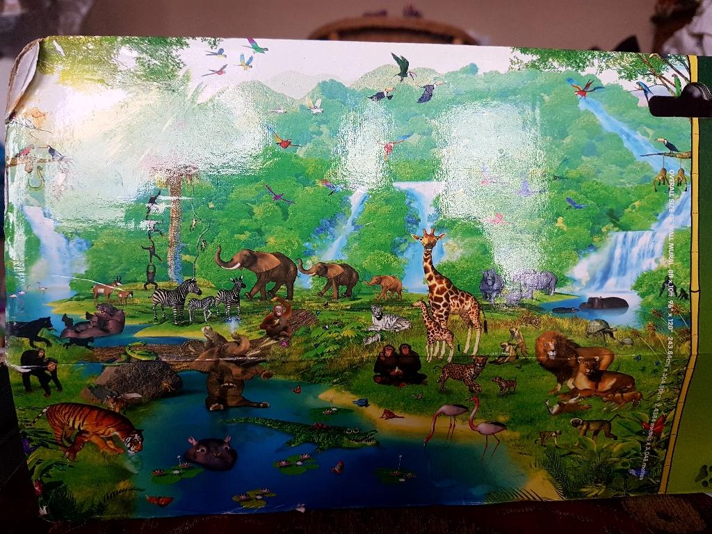 Walltastic jungle wallpaper