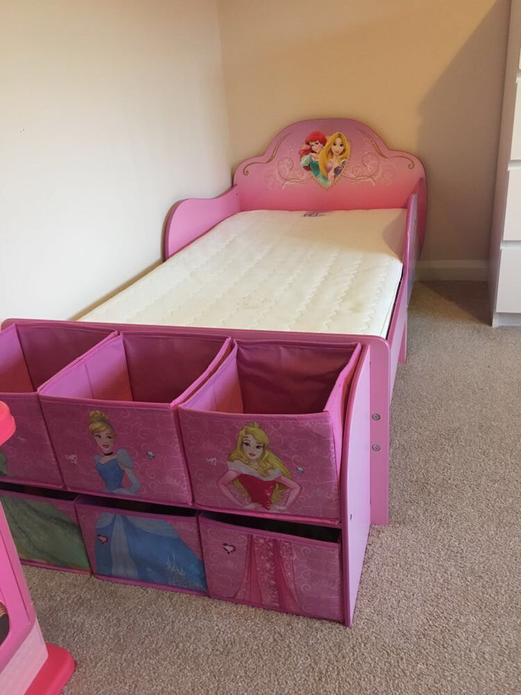 Disney Princess Toddler Bed + Kiddicare Mattress