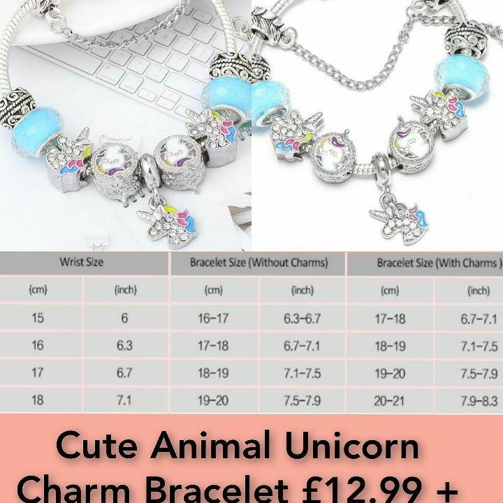 Cute Animal Unicorn Charm Bracelet
