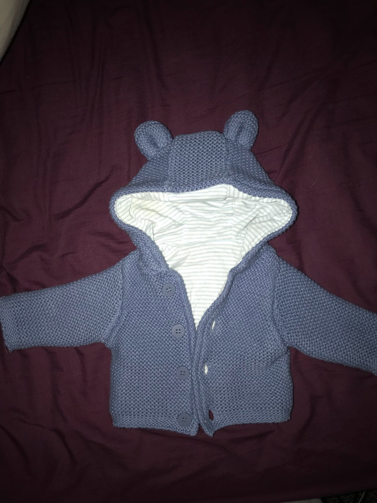 Tiny baby hoodie and Snowsuit