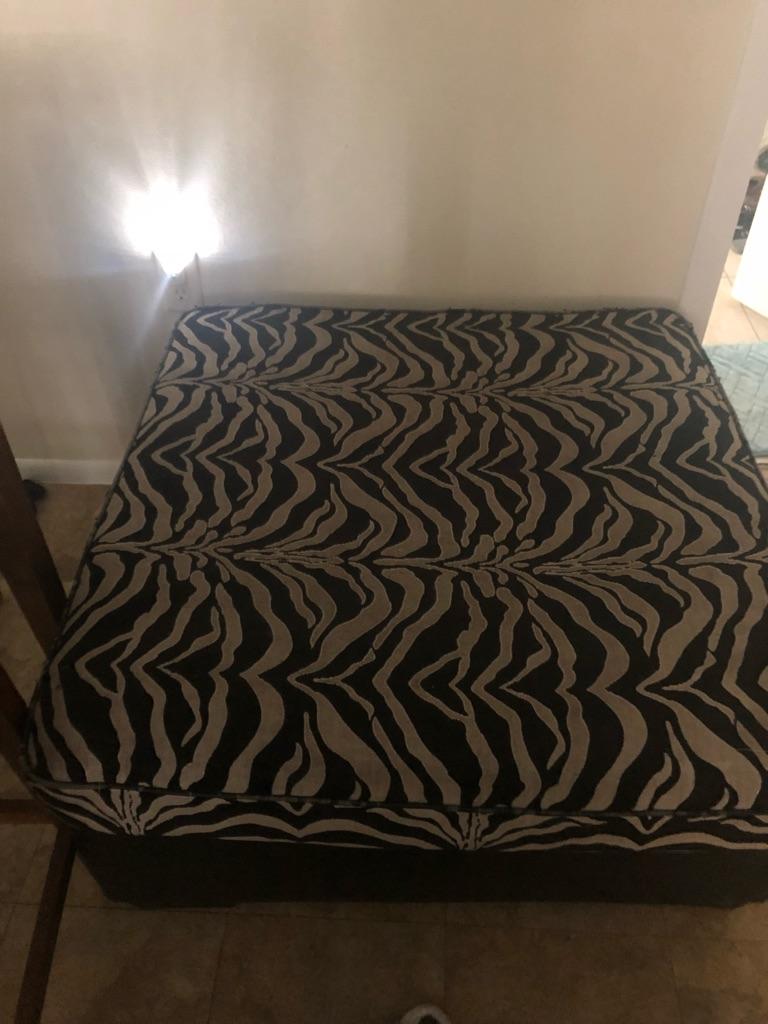 Zebra print ottoman