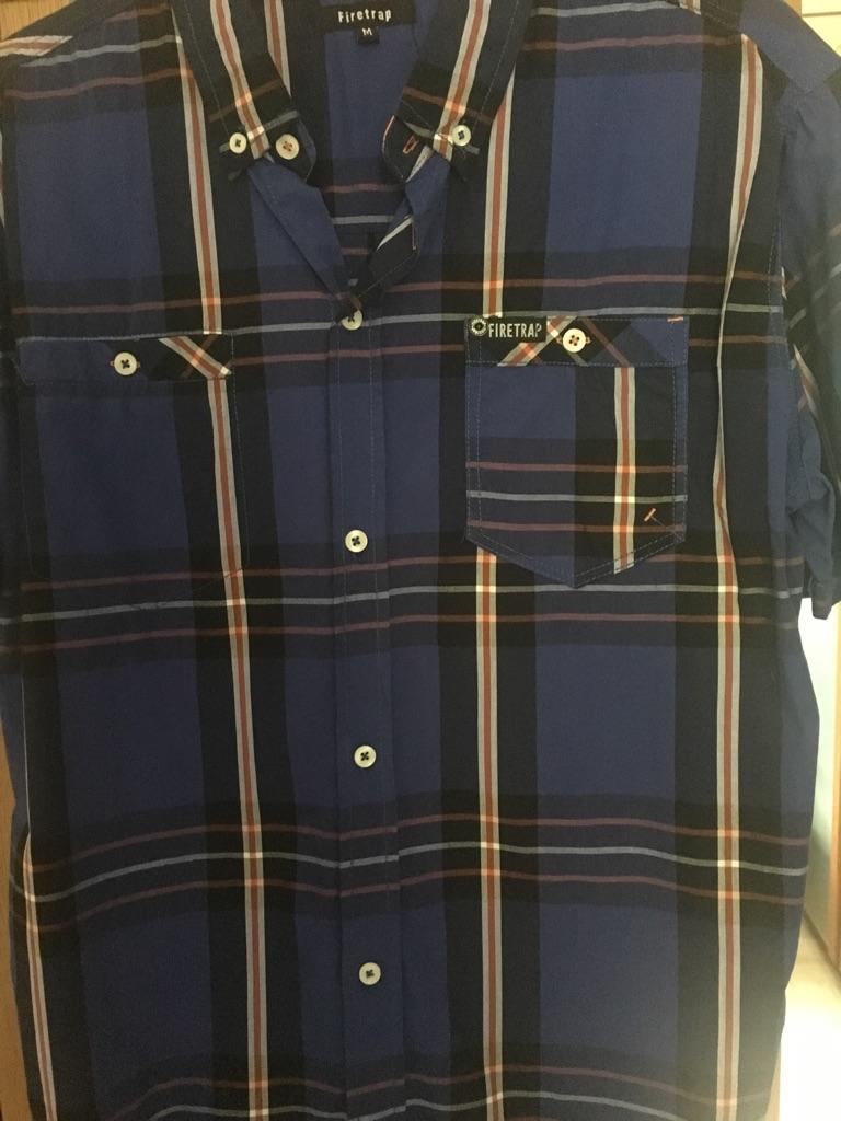 Men's Firetrap Short Sleeve Shirt Medium