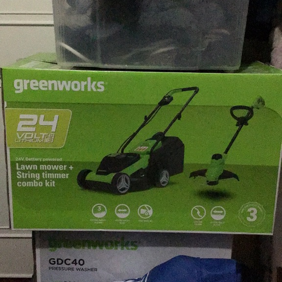 Battery lawn mower and strike room