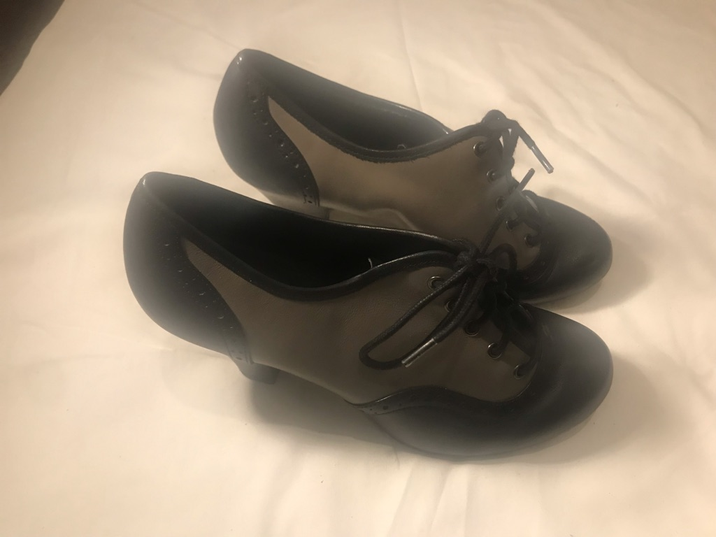 Black and grey ankle boot size 5