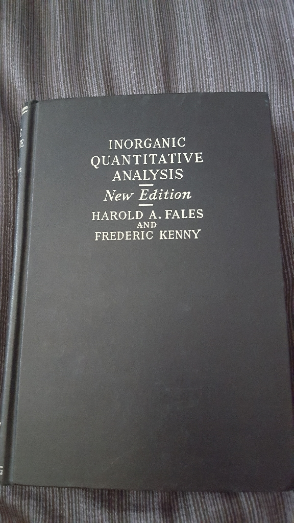Inorganic Quantitative Analysis 1939