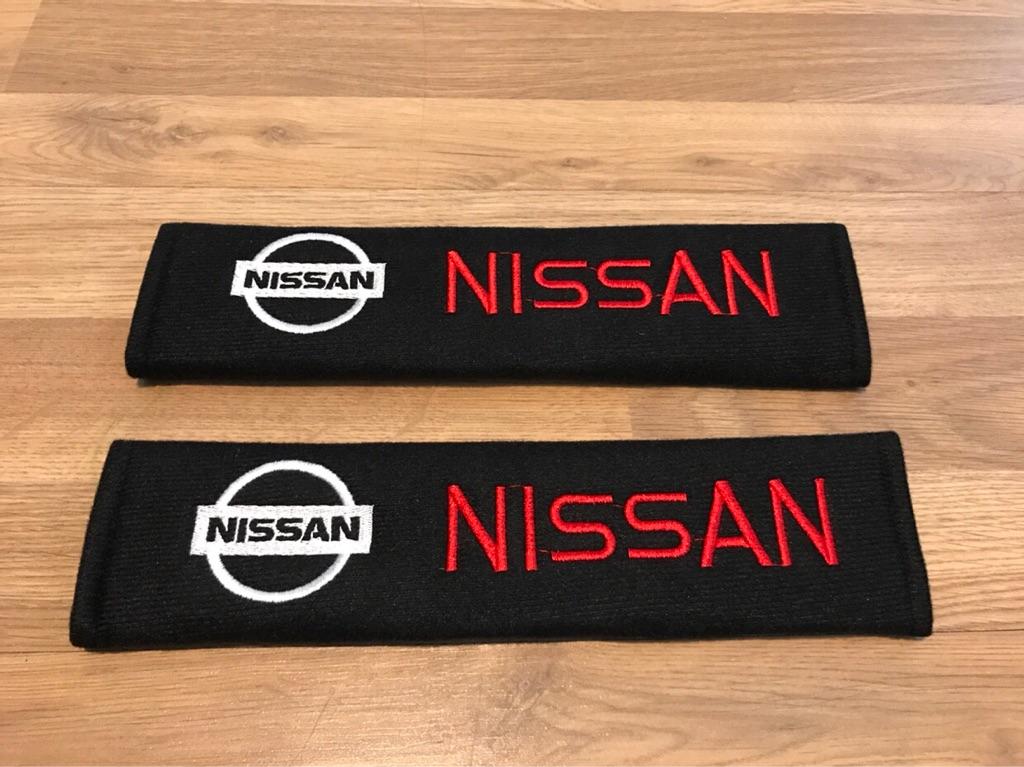 2X Seat Belt Pads Nissan Nismo Juke GTR DigT Qashqai Note Navara Micra