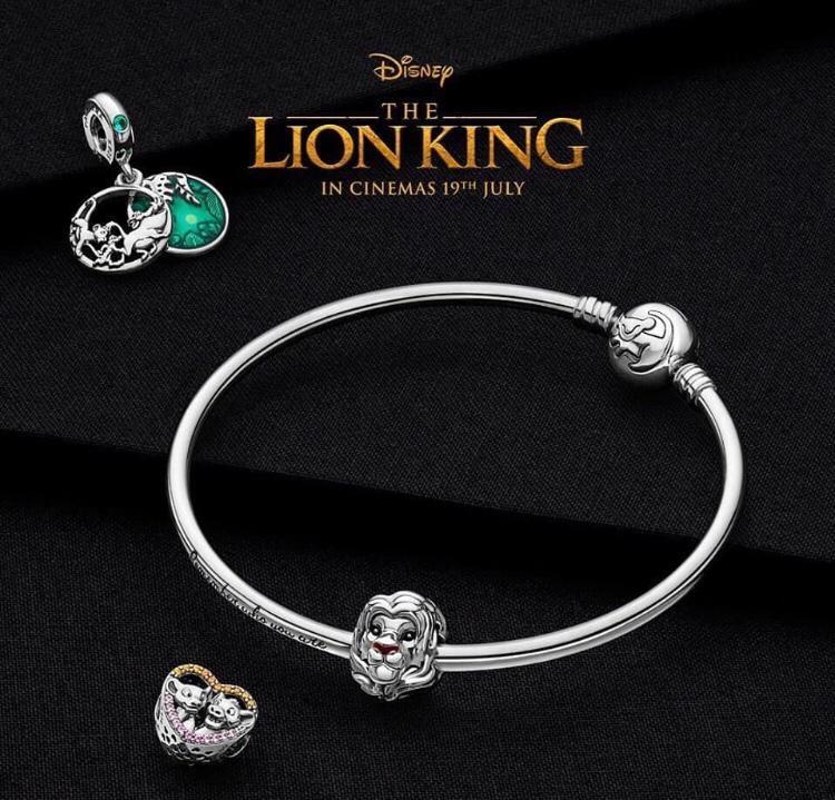 Pandora lion king.  Bracelet and charms
