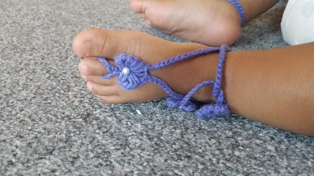Lavender barefoot sandals