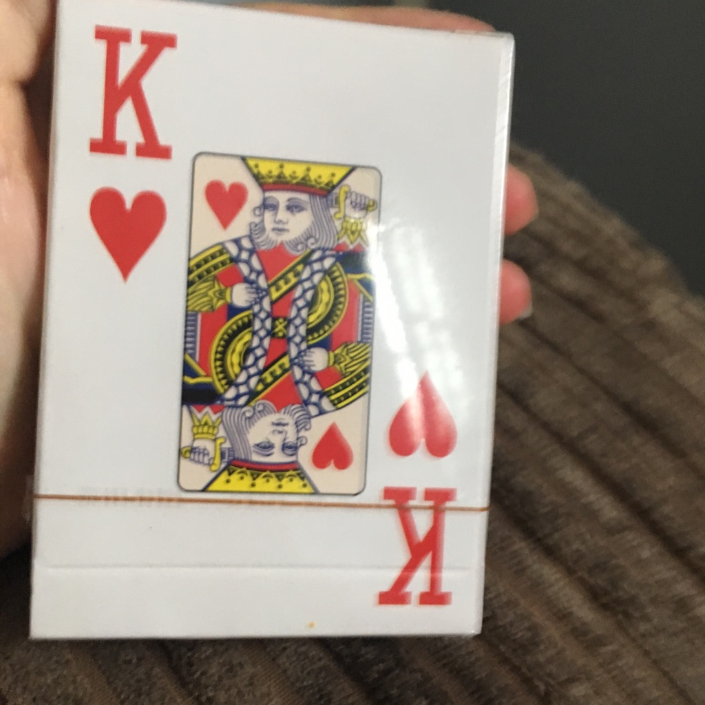 Packet of brand new playing cards