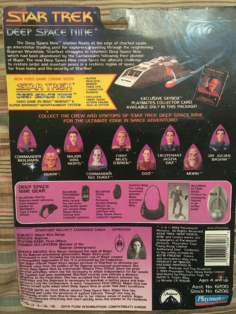 Star Trek Deep Space 9 Maj. Kira Nerys Action Figurine