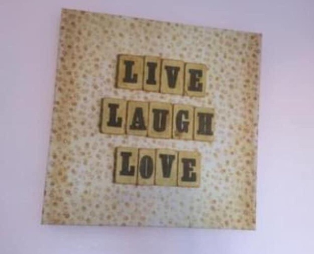 Live laugh love canvas