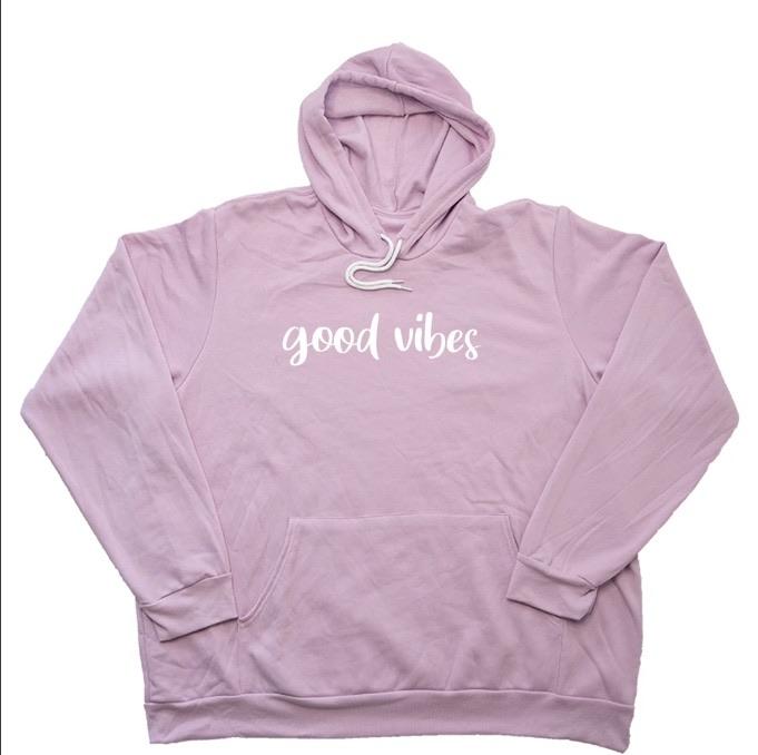 Good vibes giant hoodies 15% off using my code below ⬇️