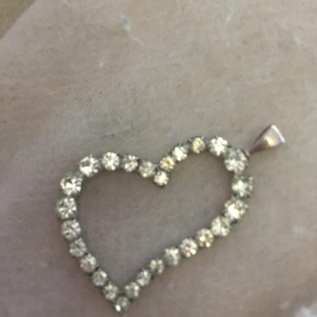 Beautiful silver heart pendant