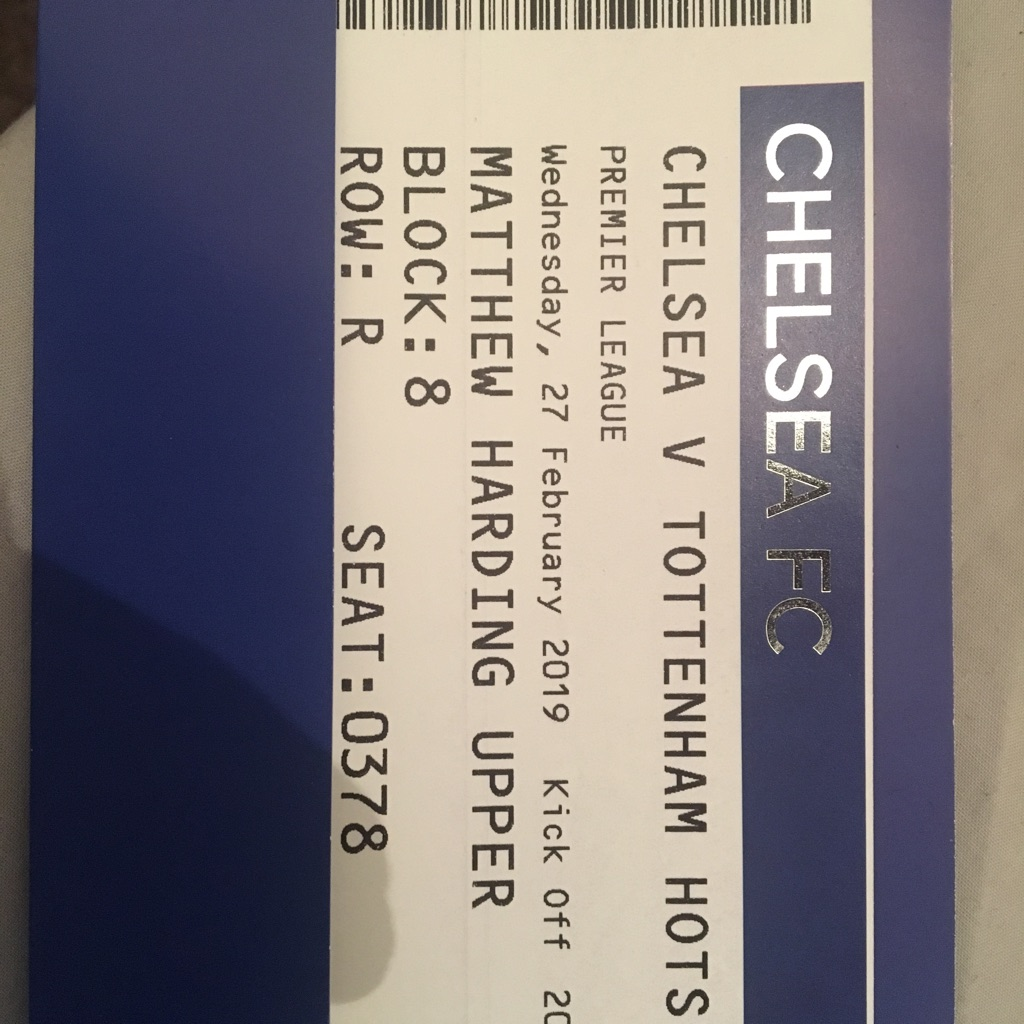 Chelsea v Tottenham ticket