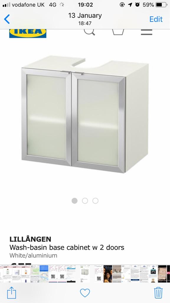 Bathroom undersink cabinet