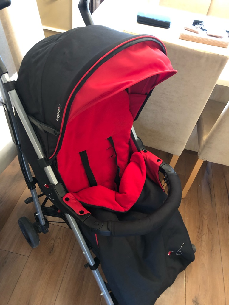 Ladybird pram with carry cot and stroller/buggy seat cosytoes and rain cover