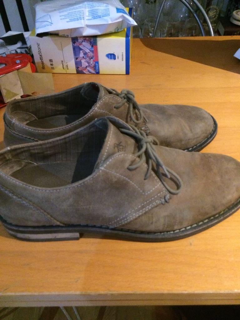 Men's brown suede shoes