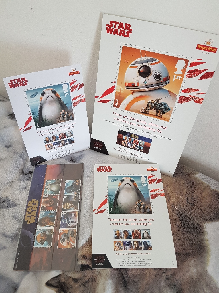 Star Wars Stamps and point of sale promotion items