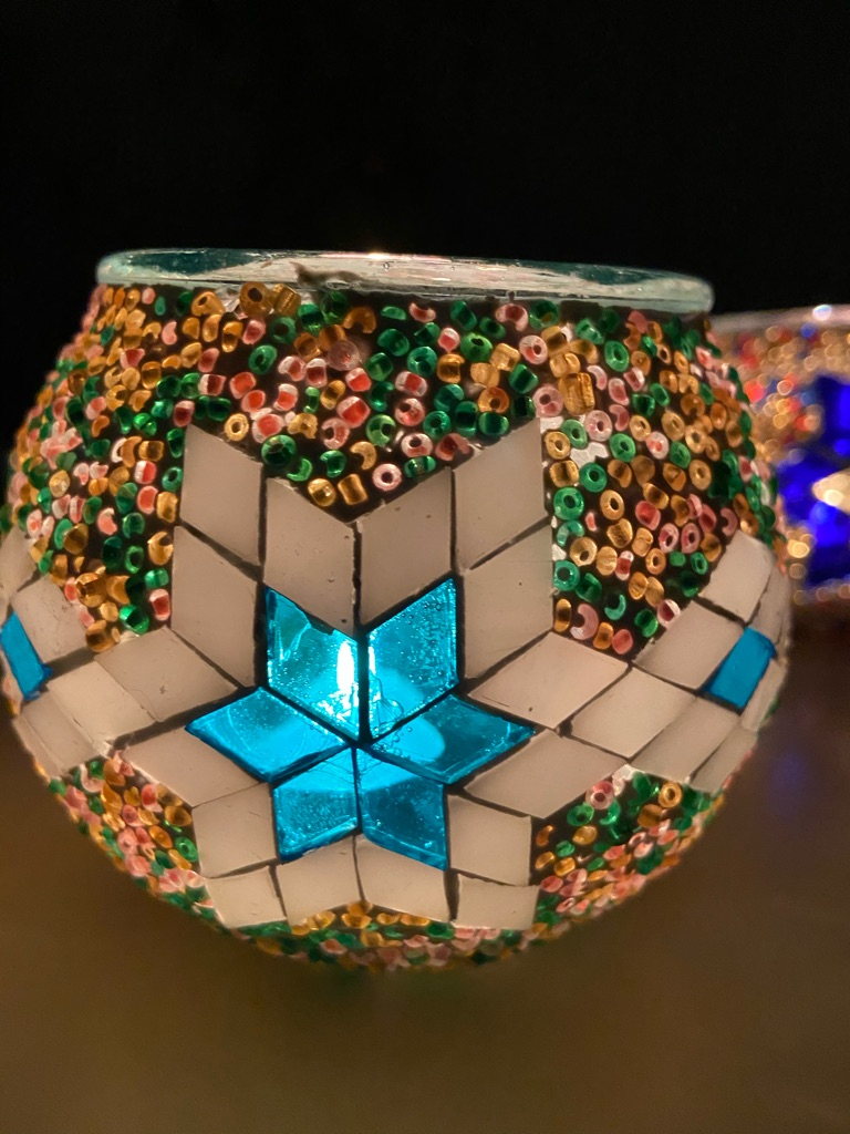 Brand New Handmade Mosaic Candle Holders