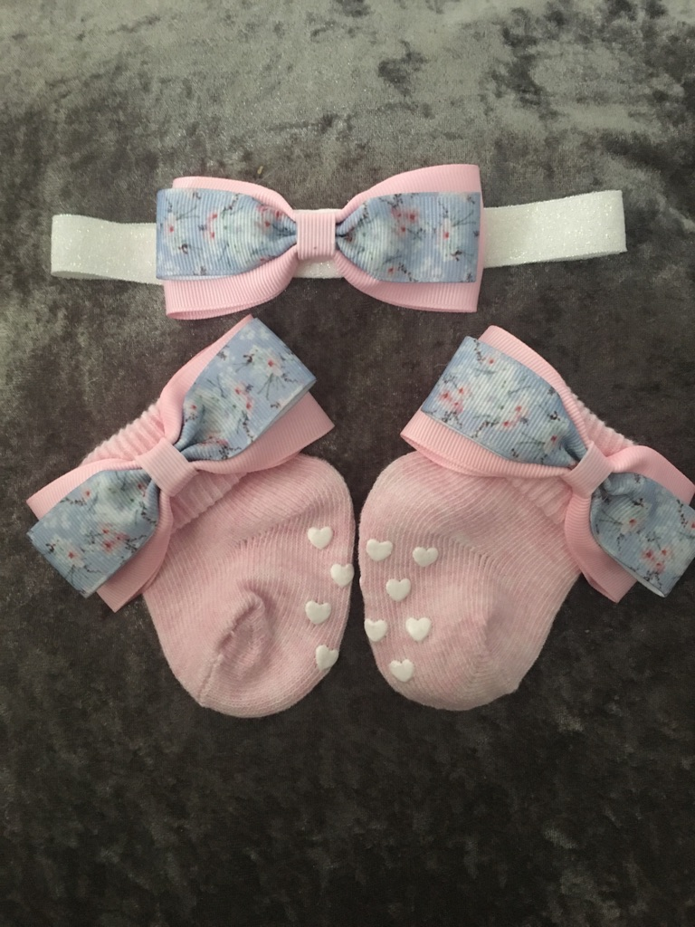 Ted baker prints socks and matching headband or clip