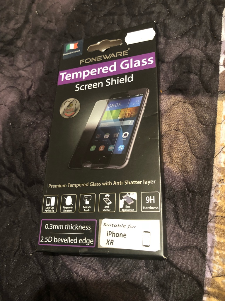 Screen protector for iPhone XR