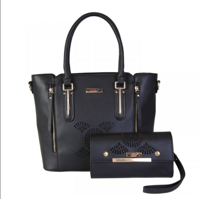 2pc set black handbag nicole lee