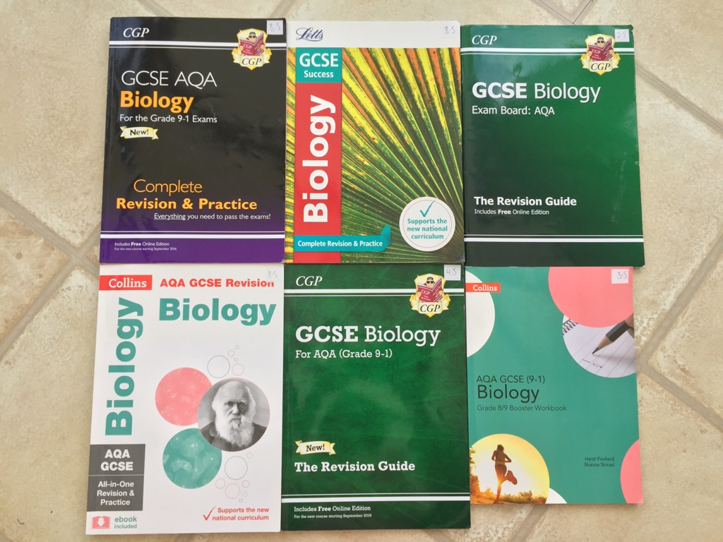 NEW GCSE 9-1 AQA BIOLOGY REVISION AND PRACTICE TEXTBOOKS AND WORKBOOKS