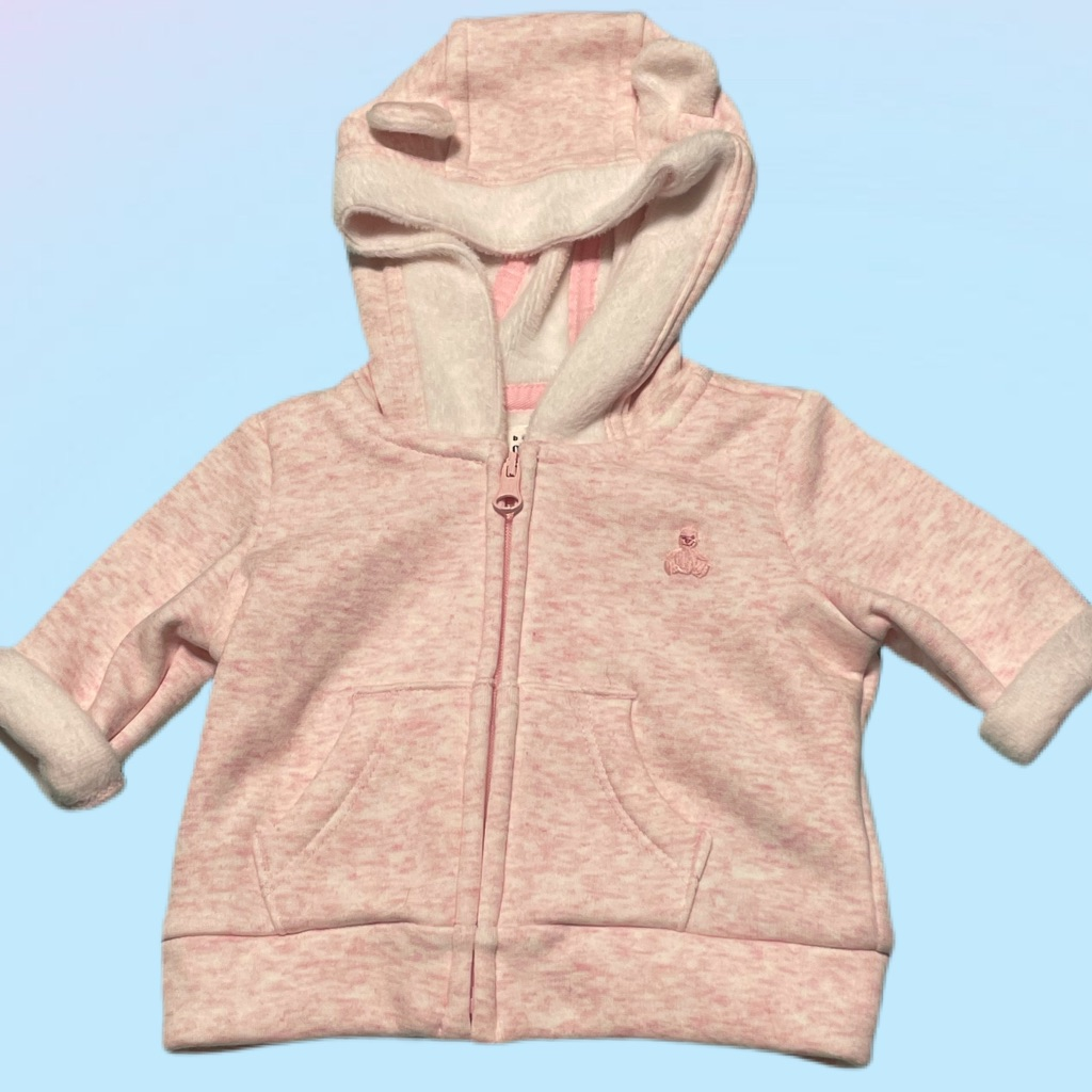Baby Gap Lined Hoodie Jacket Size 0-3M