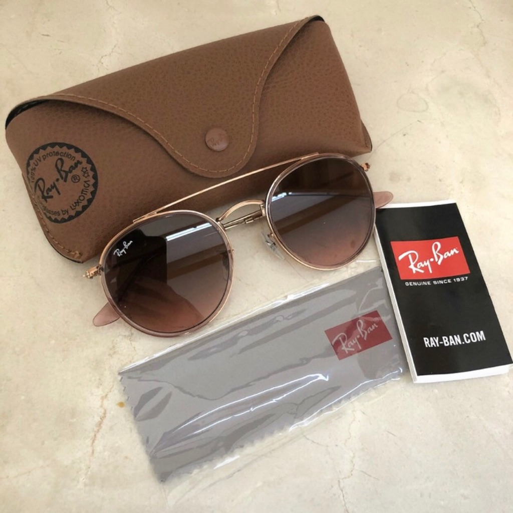 Rayban Round Double-Bridge Sunglasses