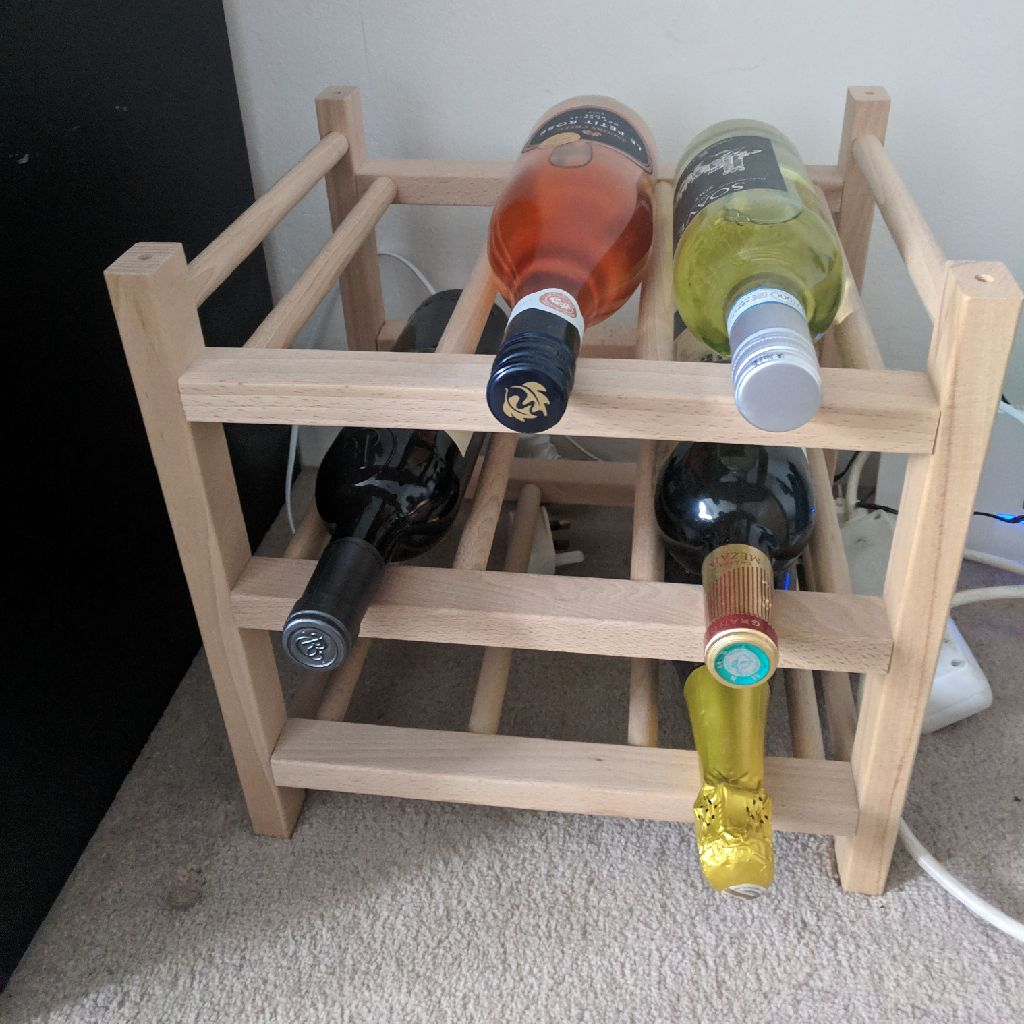 Ikea 9 bottle wine rack