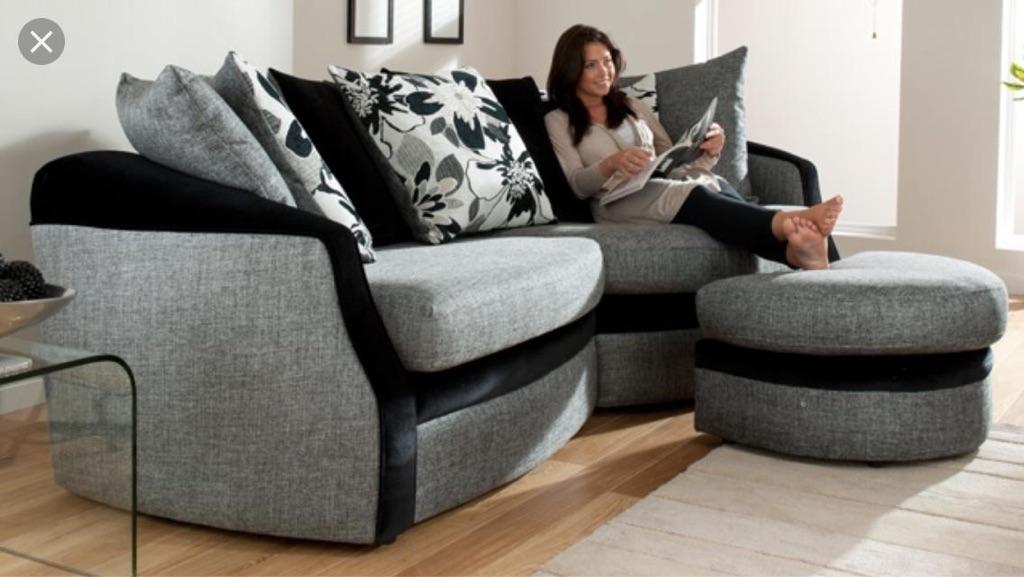 Vanessa 4 seater sofa and footstool