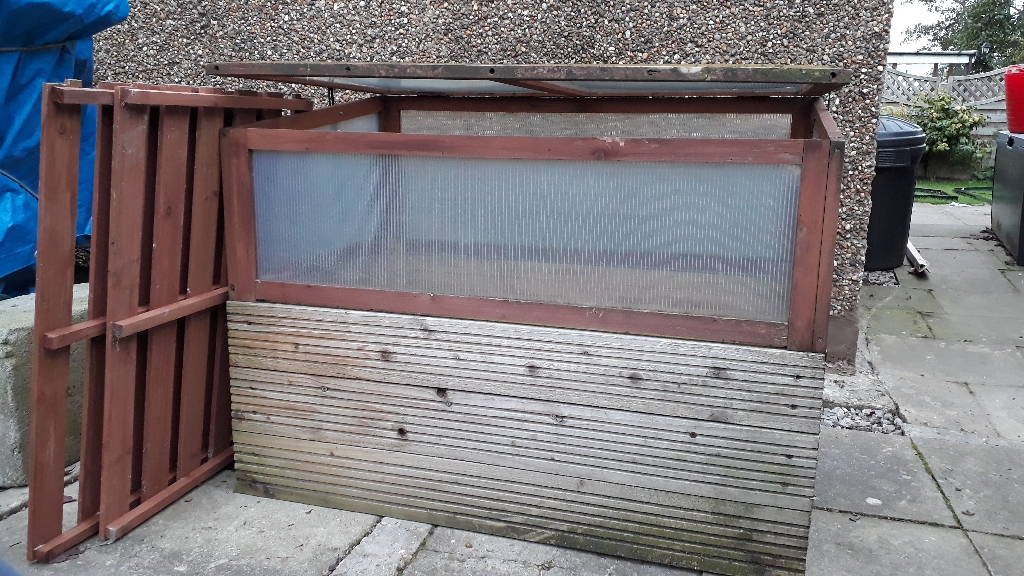 Wooden Growhouse & Vegetable Cold Frame