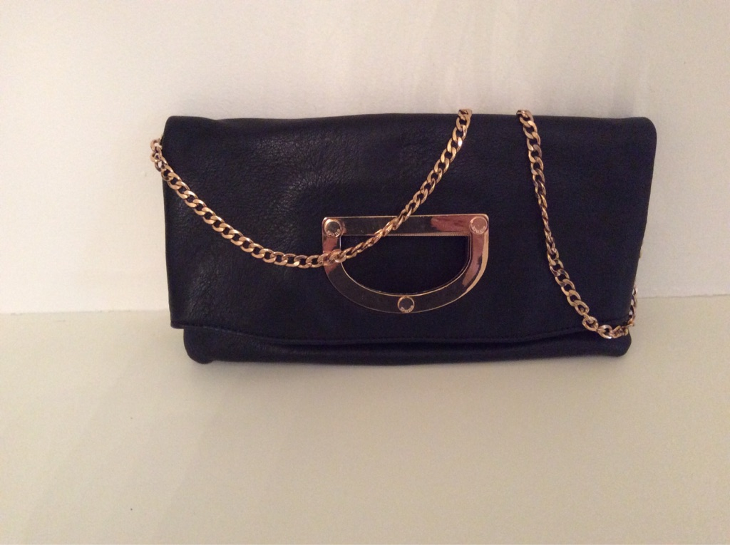 Dune leather clutch bag
