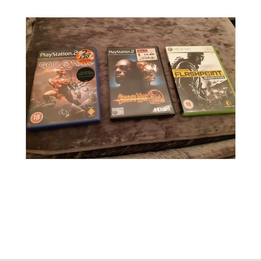 Ps2 and Xbox 360 games