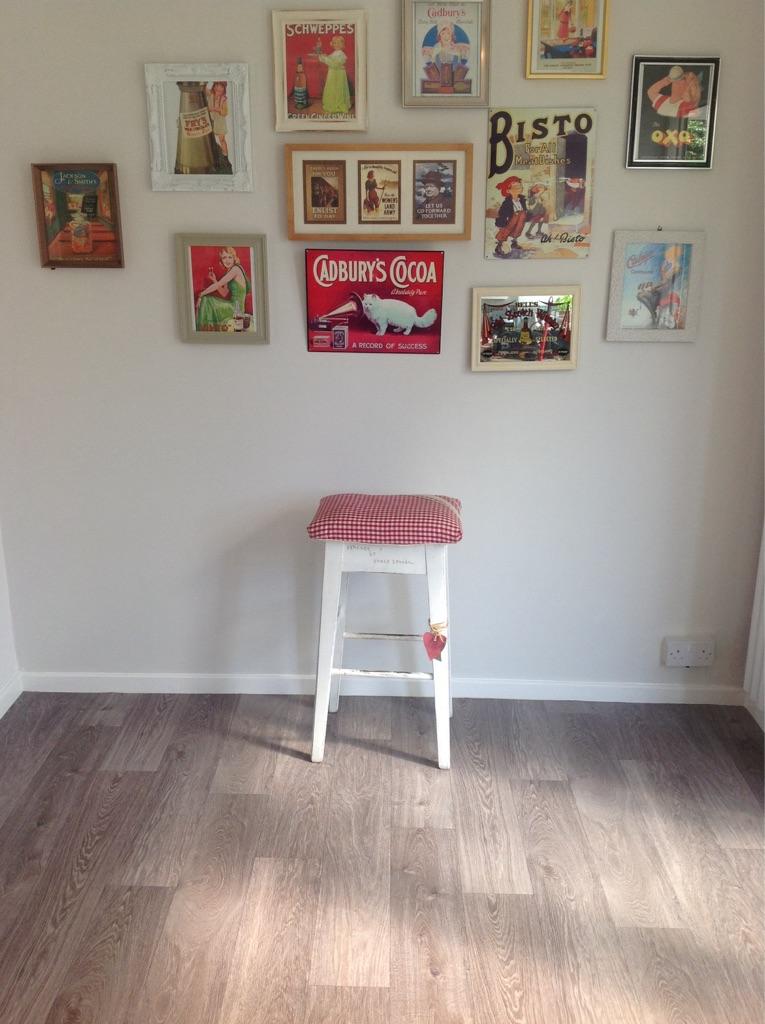Shabby chic vintage breakfast bar stool
