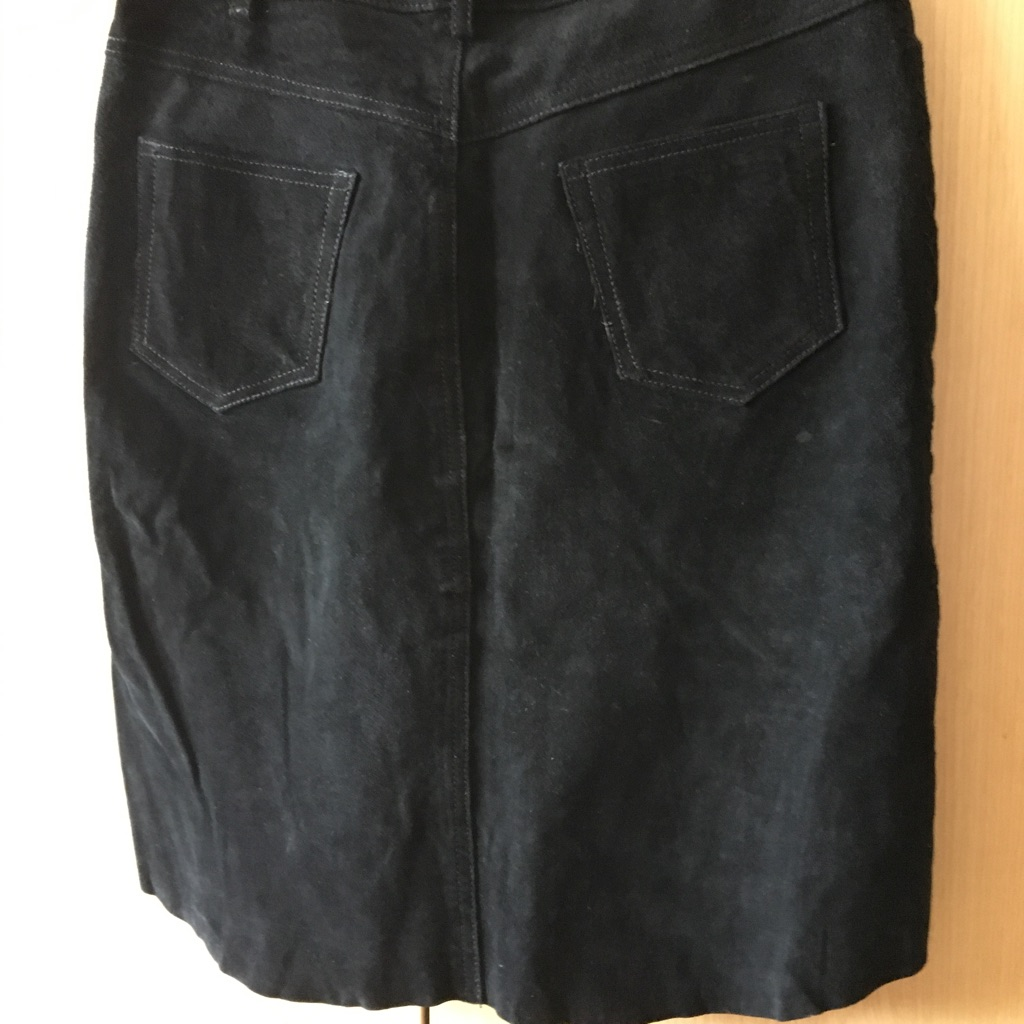 Real suede skirt size 10/12