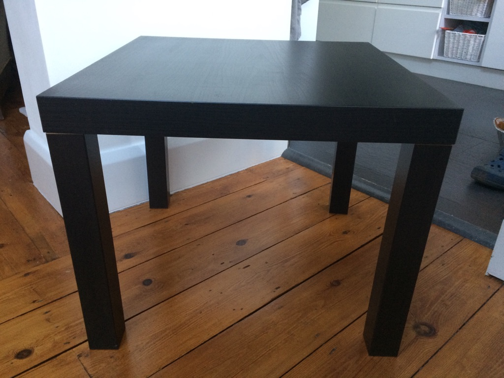 House moving sale: IKEA black table