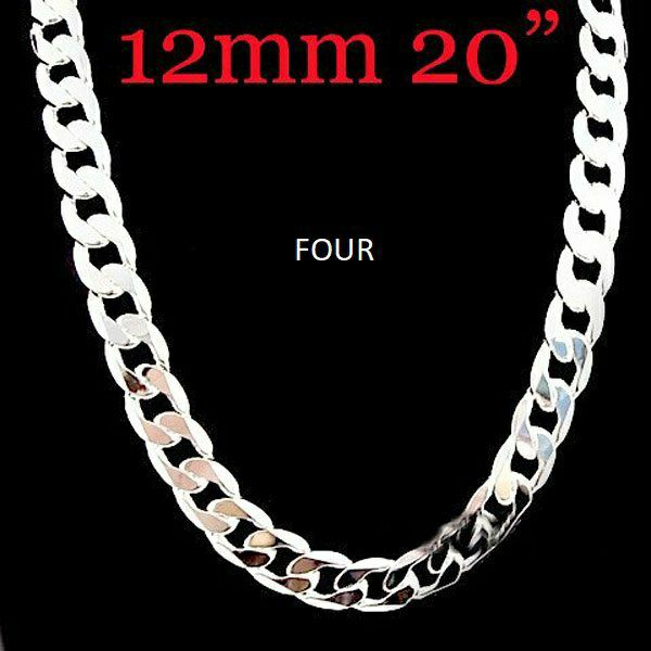 "Men's 925 silver high quality chain 20"""