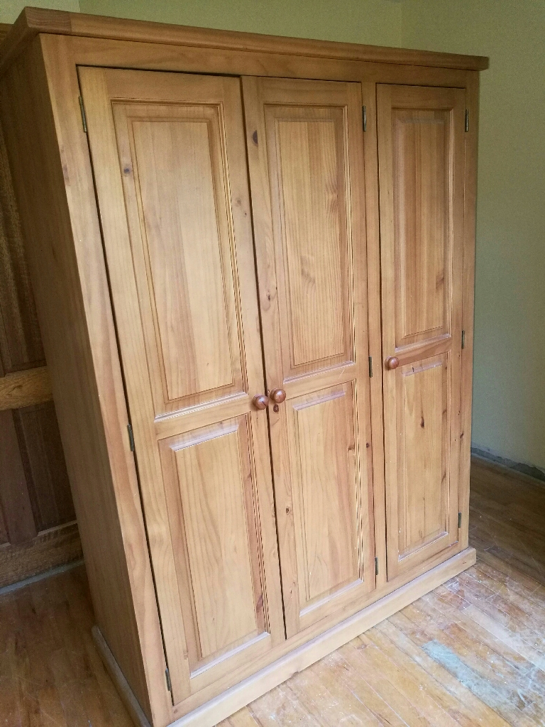Wardrobes and glass cabinet
