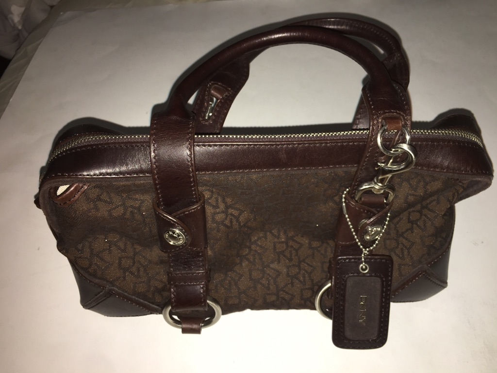 DKNY Dark Brown Satchel Handbag