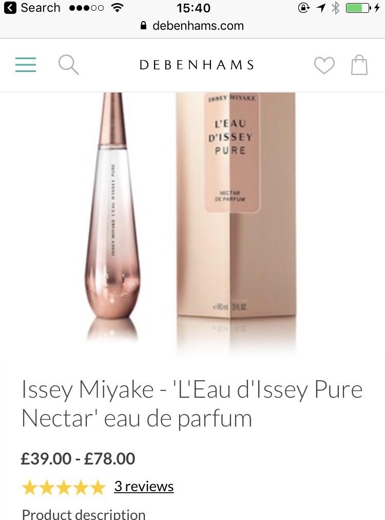 Brand new unopened issey miyake pure nectar de parfum